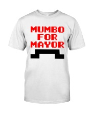 mumbo for mayor funny pixels funny Premium Fit Mens Tee tile