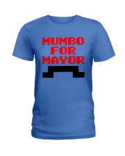 mumbo for mayor funny pixels funny Ladies T-Shirt front