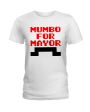 mumbo for mayor funny pixels funny Ladies T-Shirt tile