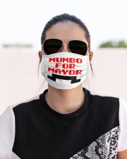 mumbo for mayor funny pixels funny Cloth face mask aos-face-mask-lifestyle-02