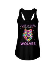 Just A Girl Who Loves Wolves T-shirt Ladies Flowy Tank thumbnail