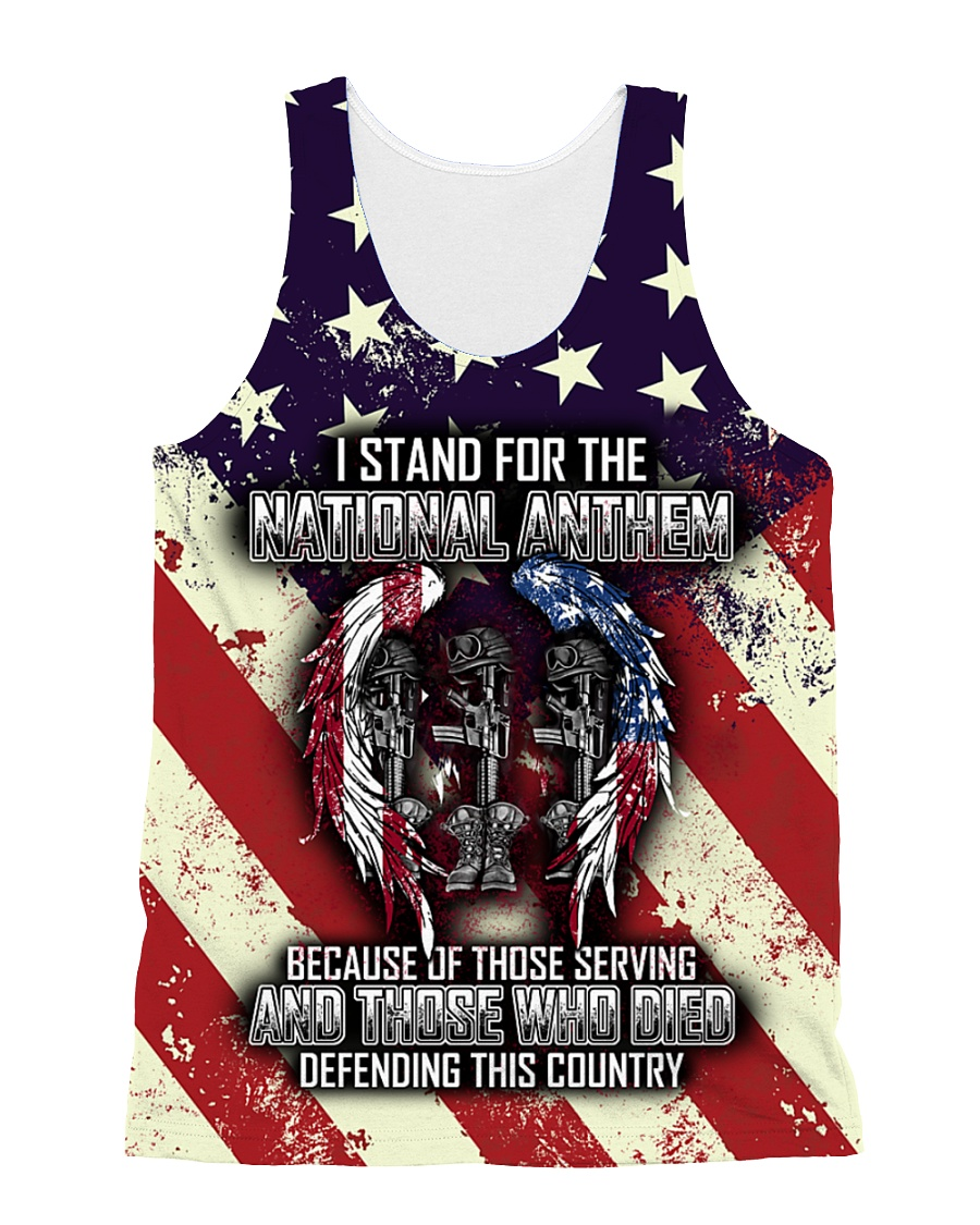 STAND FOR THE NATIONAL ANTHEM All-over Unisex Tank