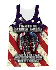 STAND FOR THE NATIONAL ANTHEM All-over Unisex Tank front