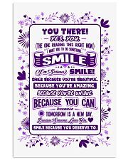 SMILE BECAUSE YOU DESERVE TO LOVE POSTER 11x17 Poster front