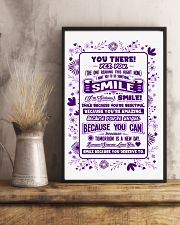SMILE BECAUSE YOU DESERVE TO LOVE POSTER 11x17 Poster lifestyle-poster-3