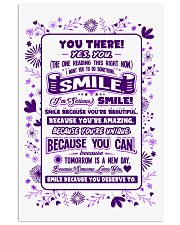 SMILE BECAUSE YOU DESERVE TO LOVE POSTER 24x36 Poster front