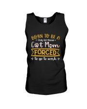 Born To Be A Stay At Home Cat Mom Unisex Tank thumbnail