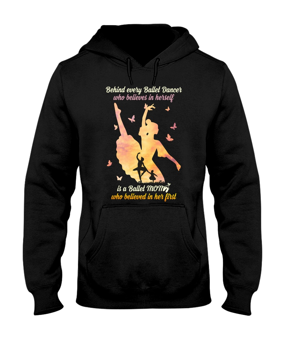 Behind every Ballet Dancer DPN37 Hooded Sweatshirt