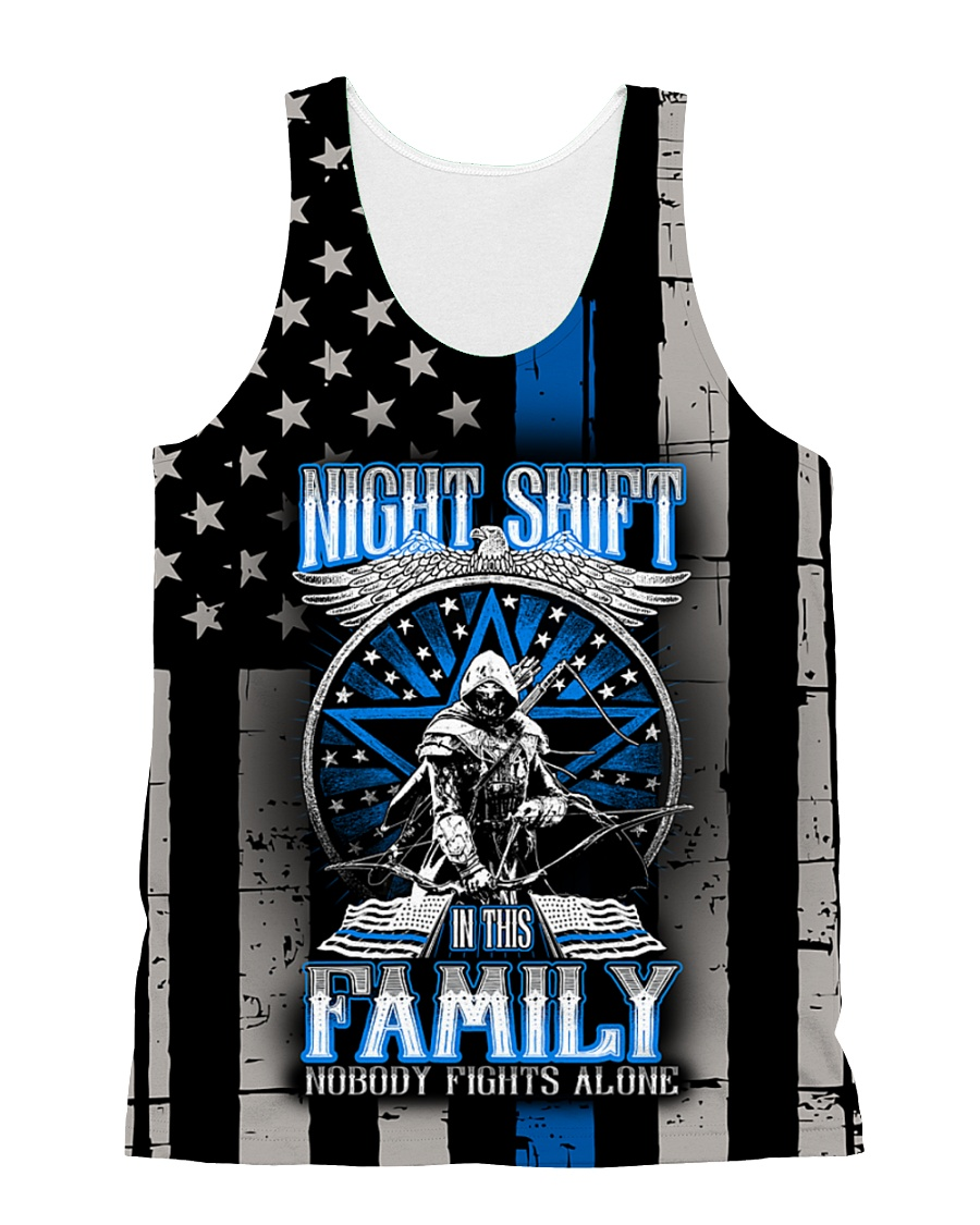 NOBODY FIGHTS ALONE All-over Unisex Tank