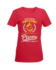 I Hate Being Sexy - I'm A Pisces Ladies T-Shirt women-premium-crewneck-shirt-front