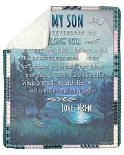 My Son No Matter What I Believe In You Sherpa Fleece Blanket tile