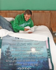 """My Son No Matter What I Believe In You Large Sherpa Fleece Blanket - 60"""" x 80"""" aos-sherpa-fleece-blanket-60x80-lifestyle-front-07"""