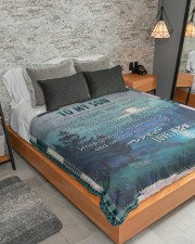 """My Son No Matter What I Believe In You Large Sherpa Fleece Blanket - 60"""" x 80"""" aos-sherpa-fleece-blanket-lifestyle-front-04"""