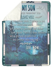 """My Son No Matter What I Believe In You Large Sherpa Fleece Blanket - 60"""" x 80"""" front"""