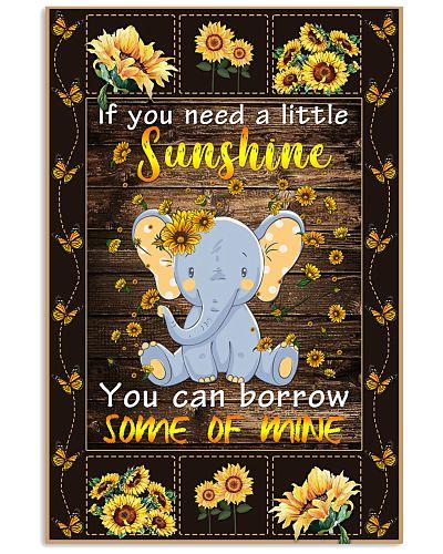 Elephant Sunflower Poster GPN28