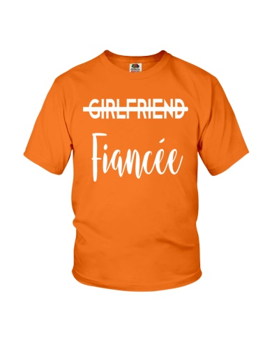 Girlfriend Fiancee Engagement Tee Couples Gift Her