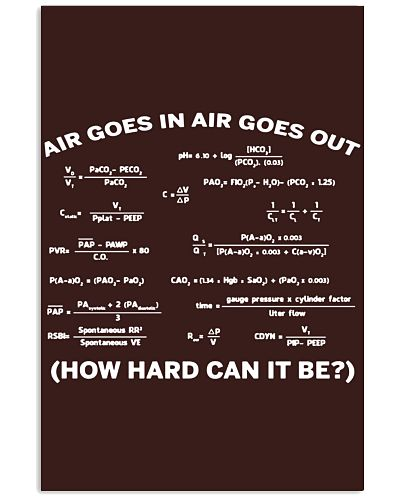 Air goes in air goes out