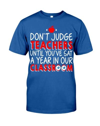 Don't judge teachers