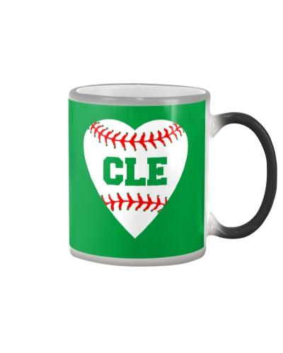 Cleveland Ohio Baseball Love Heart CLE - Baseball