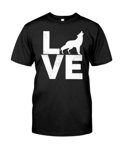 I Love Wolves Vintage Look Lone Wolf Distressed