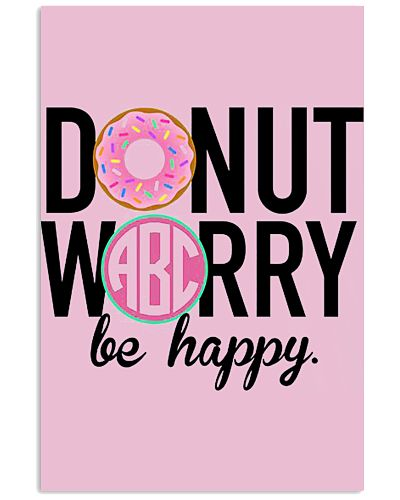 2018 Newest fashion Donut Worry Be Happy printed w