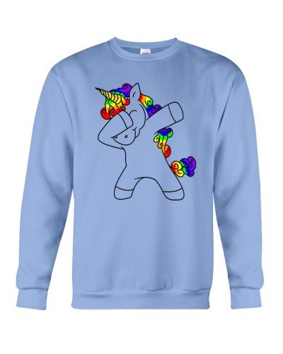 Unicorn cute dabbing Funny Dab Dance Rainbow-unico