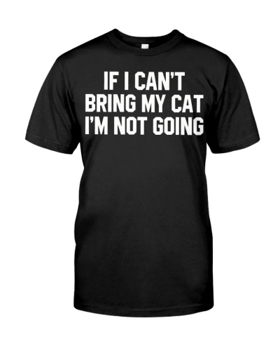 I can't going with my cats