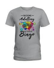 Adulting Bingo Ladies T-Shirt front