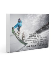 Thank you dad - Snowboarding Gallery Wrapped Canvas Prints tile