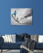 Thank you dad - Snowboarding 20x16 Gallery Wrapped Canvas Prints aos-canvas-pgw-20x16-lifestyle-front-06