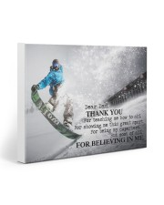 Thank you dad - Snowboarding 20x16 Gallery Wrapped Canvas Prints front