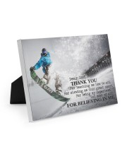 Thank you dad - Snowboarding 10x8 Easel-Back Gallery Wrapped Canvas thumbnail