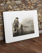 Thank you dad - Horse riding 20x16 Gallery Wrapped Canvas Prints aos-canvas-pgw-20x16-lifestyle-front-21