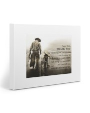 Thank you dad - Horse riding 20x16 Gallery Wrapped Canvas Prints front