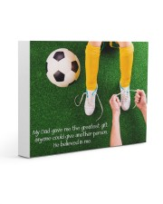 Thank you dad - Soccer Gallery Wrapped Canvas Prints tile