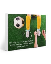 Thank you dad - Soccer 20x16 Gallery Wrapped Canvas Prints front