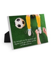 Thank you dad - Soccer Easel-Back Gallery Wrapped Canvas tile