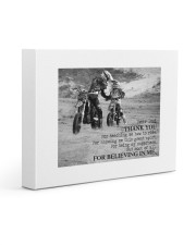 Thank you dad - Biker Dad Gallery Wrapped Canvas Prints tile