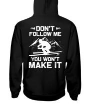 Skiing Hooded Sweatshirt back