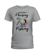 Nursing Fishing Ladies T-Shirt front