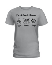 Drums and Dog Ladies T-Shirt front