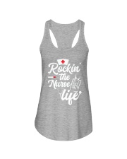Rockin the nurse life Ladies Flowy Tank thumbnail