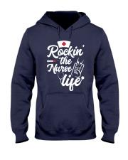 Rockin the nurse life Hooded Sweatshirt thumbnail