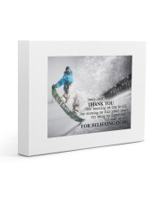 Thank you dad - Skiing Gallery Wrapped Canvas Prints tile
