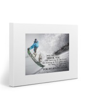 Thank you dad - Skiing 20x16 Gallery Wrapped Canvas Prints front