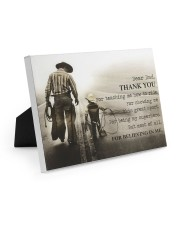 Thank you dad Easel-Back Gallery Wrapped Canvas tile