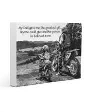 Thank you dad - Biker Gallery Wrapped Canvas Prints tile
