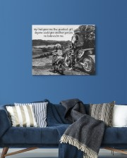 Thank you dad - Biker 20x16 Gallery Wrapped Canvas Prints aos-canvas-pgw-20x16-lifestyle-front-06