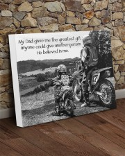 Thank you dad - Biker 20x16 Gallery Wrapped Canvas Prints aos-canvas-pgw-20x16-lifestyle-front-21