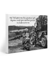 Thank you dad - Biker 20x16 Gallery Wrapped Canvas Prints front
